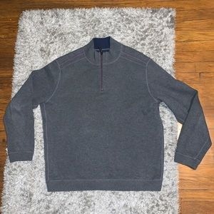 Tommy Bahama reversible sweater 1/4 zip